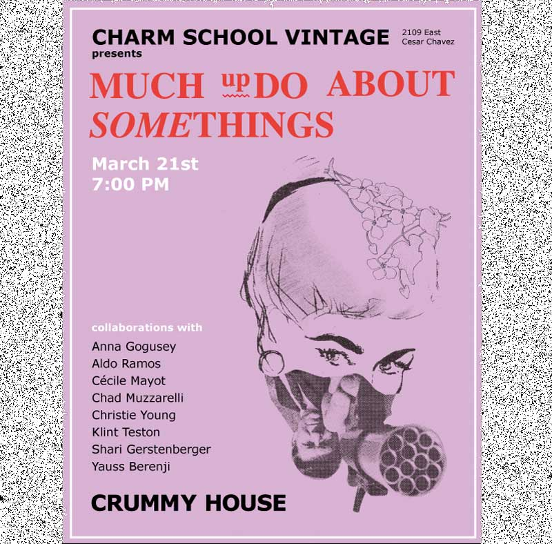 Promotional poster for Crummy House Art Show on artplusmath.com, website of Jess Clark
