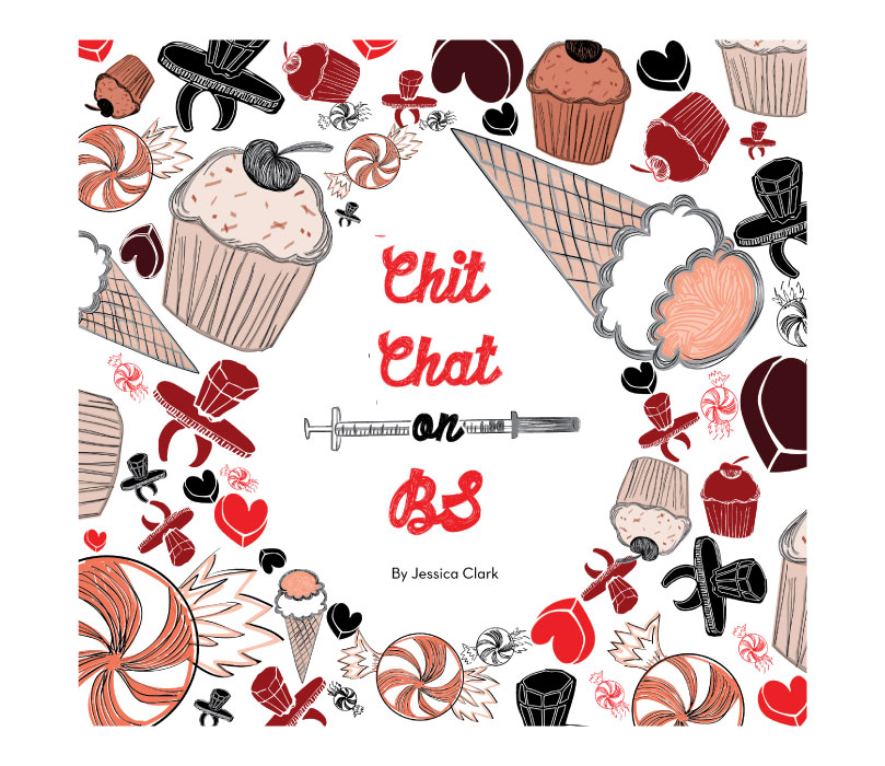 Cover of Chit Chat on BS Book by designer jess clark, artplusmath