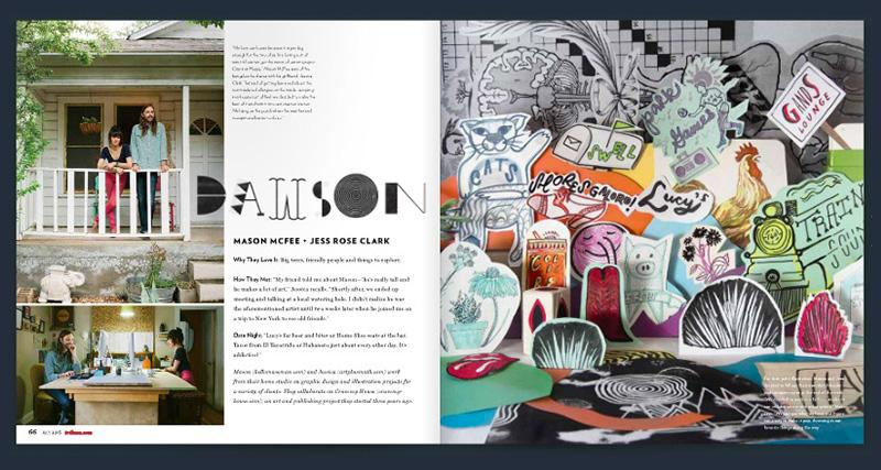Jess Clark feature in Tribeza Magazine