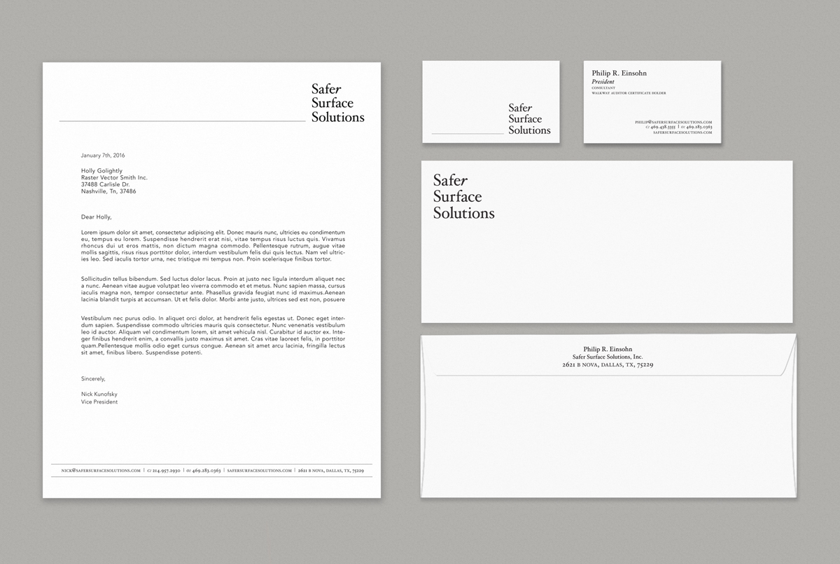 Jessica Clark Design shot of corporate stationery, brand identity